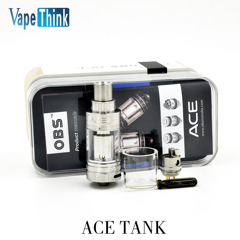 stock Original OBS ACE Tank 4.5ml with Ceramic 0.85 Coil or With RBA Coil OBS ACE Atomizer<br><br>Aliexpress