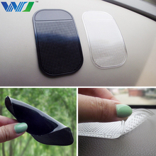 WJ Mobile Phone Holder Car Dashboard Powerful Silica Magic Sticky Pad Non slip Sticky Pad For GPS MP3 MP4 Decoration Car-styling(China)