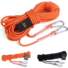 Outdoor 10M Professional Rock Climbing Rope Hiking Accessory 10mm Diameter 3KN High Strength Cord Safety Ropes(China)