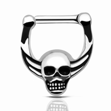 Septum Clicker Nose Piercings Jewelry 316L Hinged Skull Nose Ring Septum faux septum rings Skeleton Body Jewelry 2016 New