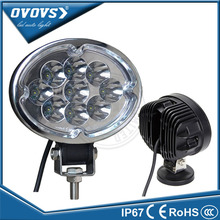 OVOVS vehicle silver black ring car part 12v led work light oval 27w for tractor truck 4WD 4x4 Off road