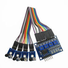 4 road tracing smart car tracking sensor module of black and white line detection