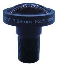 "M12 1.29 mm 1/2.5"" Fisheye Lens 10MP HD Megapixels Lens 185 Degrees Wide Angle CCTV Lens For Security Camera (SL-RY129F25)"