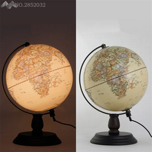 LFH modern creative Wooden Antique Globe Desk Lamp Acrylic lampshade table light living room study Bedroom indoor lighting decor(China)