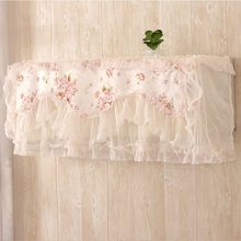 Lace Air Conditioner Cover Romantic Wedding Decoration Wall Mounted Air Conditioning Floral Home Dust Covers