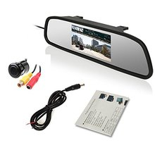 4.3 inch TFT LCD Color Screen car monitor 2 Ways Video Input Car Rearview Mirror Monitor for DVD/VCR/Car Reverse Camera parking