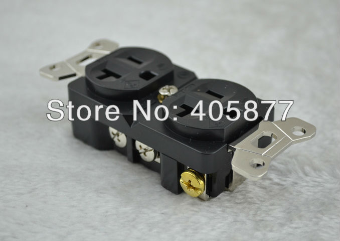 Viborg Hi-End-R rhodium plated Power Plug Adapter Socket<br>