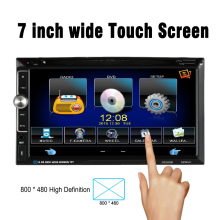 "7"" Universal 2 Din HD Car Stereo DVD Player Bluetooth Radio Entertainment Multimedia with HD Rear View Camera(China)"