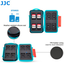 JJC Storage 8 Nintendo Switch Game Card + 8 Micro SD Card Case Water-Resistant Memory Card Case(China)