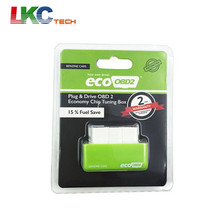 10pcs/lot Green EcoOBD2 Economy Chip Tuning Box OBD Car Fuel Saver Eco OBD2 for Benzine Cars Fuel Saving 15%