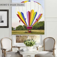 MOMO Painting Blackout Window Curtains Roller Shades Blinds Thermal Insulated Fabric Custom Size,PRB set650-654
