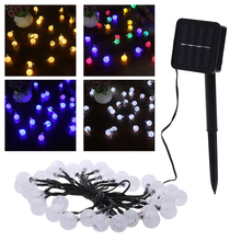 Solar light string 30 LED bubble beads String Lights Solar Powered Christmas Lights Outdoor Lighting for Garden Xmas Party Decor