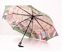 Retro navigation map series fully automatic umbrella