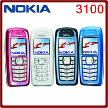 Original Unlocked Nokia 3100 GSM Bar 850 mAh Support Russian & Keybaord keyboard Cheap and old Cellphone Free Shipping(China)