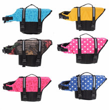 Dog Pet Float Life Jacket Life Vest Aquatic Safety Swimming Suit Boating Life Jacket S/M/L MXDICC(China)