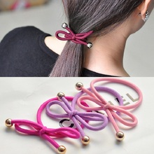 Cheap New Hot Fashion Lovely Headwear Wholesale Hair Bow tie Knotted Rubber Band Hair Ring for Women Girl Gift Hair Accessories
