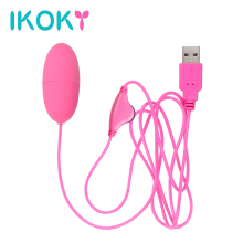 IKOKY Vibrating powerful Egg Bullet vibrator USB Sex Machine Adult Product Clitoris stimulator Sex toys for women multi-Speed(China)