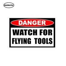 HotMeiNi Car Styling Decal 3D Danger Watch For Flying Tools Vinyl Sticker  Mechanic 7276b9118741