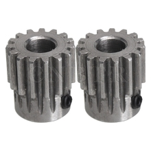 CNBTR 2pcs 45 Steel 8mm Hole Diameter Motor Metal Gear Wheel Top Screws or Hardware Wheel Screw