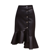 Buy Sexy High Waist PU Leather Skirt Women Black Bodycon Latex Skirt Autumn Casual Streetwear Short Skirts