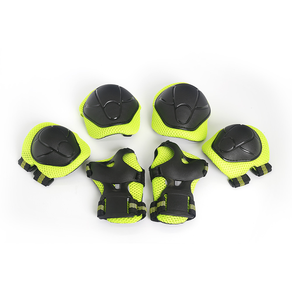 6Pc Protective Gear Pads Knee Elbow Wrist for Roller Skating Bike Skateboard