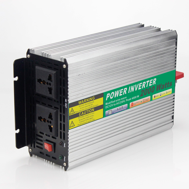 MAYLAR@ 24VDC 2000W Modified Sine Wave AC 110V or 220V Car Power Inverter Converter Power Solar inverters Off grid tie system(China (Mainland))