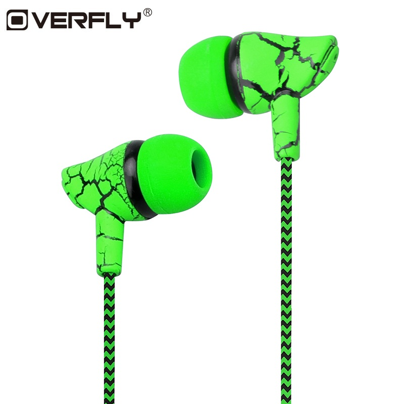 Crack Braided HeadsetS Wired Headphone with Microphone 3.5mm Wired Control Super Bass Universal for Android iPhone Xiaomi   (China)