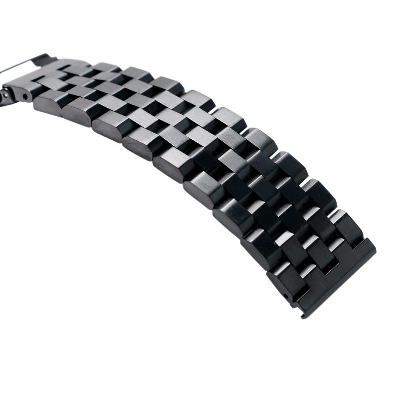 High Quality 2022mm SilverBlack Bracelet Men Women Watch Band Strap Cool Replacement Solid Link Stainless Steel Watchstrap 2017 Luxury (16)