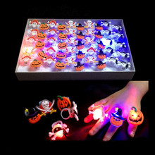 Fashion LED Lighting Finger Ring Flashing Rings Kids Girls Toys Accessories Glow Party Supplies Christmas New Year(China)