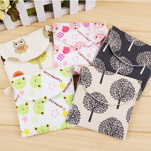 Sanitary Towel Bag Storage Female Hygiene Sanitary Napkins Package Small Cotton Storage Bag Purse Case