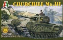 7019 1/72 Churchill MKIII Model Tank Plate(China)