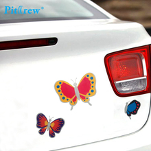 Car-styling Newly Arrival Funny Fashion Car Styling Decor Ladybug/Butterfly Decorative Car Stickers Covers Motorcycle Bicycle(China)