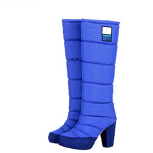 2017 Hot High Heel Winter Boots Women, Cotton Long Snowboots Platform Boots,Fashion Snow Boots Size 34-39