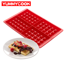 Family Silicone Waffle Mold Maker Pan Microwave Baking Cookie Cake Muffin Bakeware Cooking Tools Kitchen Accessories Supplies(China)