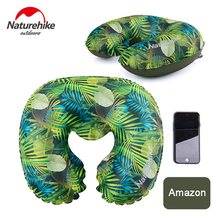 NatureHike U Shaped Pillow Inflatable Protable Travel Pillows Cushion Neck Pillow Car Outdoor Camping  Pillow 9 colors