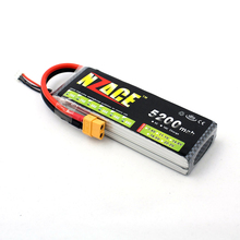 NZACE 2S 7.4v 5200mah 30c Lipo battery pack for Rc car buggy Monster Truck Backup Li-Po battery