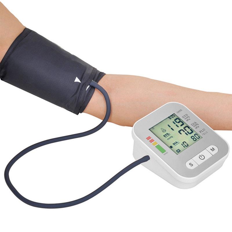 Digital Arm Blood Pressure Monitor Household Health Care Electronic Tonometer Sphygmomanometer Measurement Pulse Monitors 10