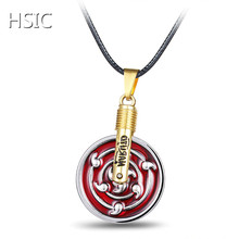 HSIC Hot Anime Naruto Necklace Mugen Infinite Tsukuyomi Mangekyou Sharingan Pendant Cosplay Accessories Gift Dropshipping