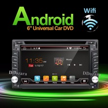 2016 New! 6.2 INCH Android 6.0 Car DVD player GPS Wifi 3G Bluetooth 2 DIN universal X-TRAIL Qashqai x trail juke(China)