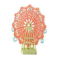 1pc Orange Papercraft Pop-Up 3D Ferris Wheel Valentine Cards May Love Goes Round And Round for Wedding Party Decor Gift 15*15 CM
