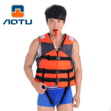 AOTU Professional Life Vest for Adult Survival Whistle Water Ski Sports Surfing Rafting Boat Fishing Life jacket Life C