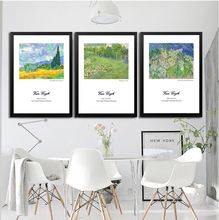 3 Pcs Van Gogh Reproduction Painting  Famous Artist Painting Modern Canvas Print on canvas  picture Wall Art Home Decor