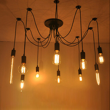 industrial Cafe personality Chandelier Vintage Design Bulbs Included Living 10 Lights