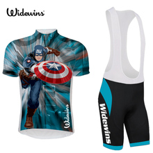 2017 America pro team cycling jersey kit summer breathable racing bike clothing MTB Ropa Ciclismo Bicycle maillot captain 5446(China)