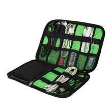 Waterproof Nylon Cable Holder Bag Electronic Accessories USB Drive Storage Case Camping Hiking Organizer Bag Outdoor Travel Kit