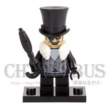 Single Sale 2017 The BATMAN MOVIE Evil Penguin Crafty Face Bad Guy SUPER HEROES Building Blocks minifig Figures diy Toys Gifts(China)