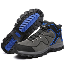 Trendy High Top Breathable Men Climbing Shoes 2017 Waterproof Lace Up Hiking Shoes Sneakers(China)