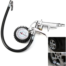 Tire Repair Tyre Inflator Air Auto Motorcycle Truck Tyre Inflating Inflator Tool Pressure Dial Gauge for Car Motorycycle Bike