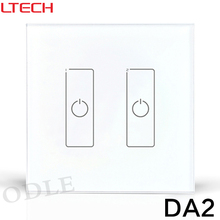 New DC12V DALI Dimmer Led Dimming Driver 86mm Touch Panel 2 CHannel Controller DA2 DALI Digital LED Driver Free Shipping