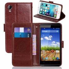 GUCOON Vintage Wallet Case for Micromax Canvas Fire 2 A104 PU Leather Retro Flip Cover Magnetic Fashion Cases Kickstand Strap